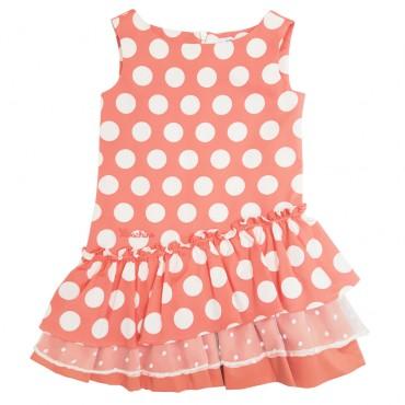 Sukienka dziewczęca w grochy Moschino 001927
