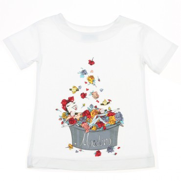 Koszulka z kąpielą Moschino Kid 002908 A