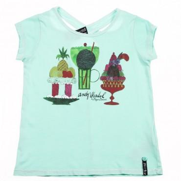 Miętowa koszulka Pepe Jeans 002911 A
