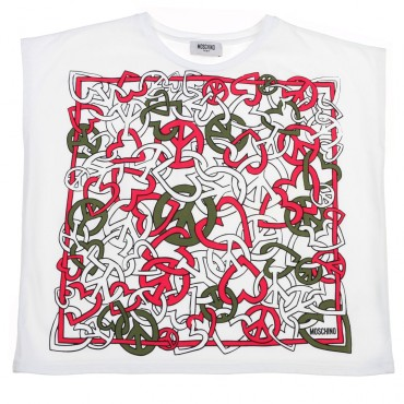 Koszulka oversize Moschino 002937 A