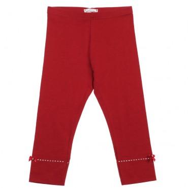 Czerwone legginsy dziewczęce Monnalisa 002949