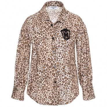 Dziewczęca koszula w panterkę Monnalisa 002963 A