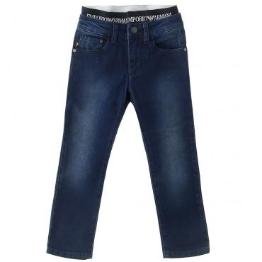 Jeansy chłopięce z gumą Emporio Armani 002965 A