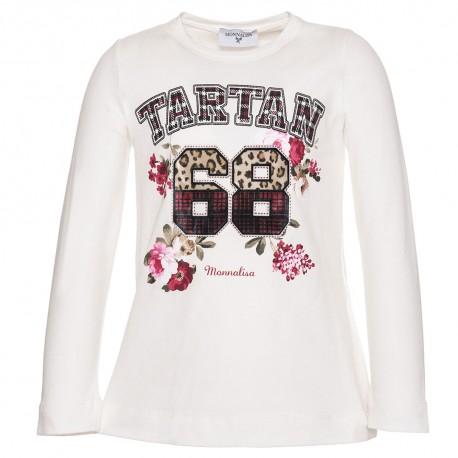Koszulka dla dziewczynki Tartan Monnalisa 002967 A