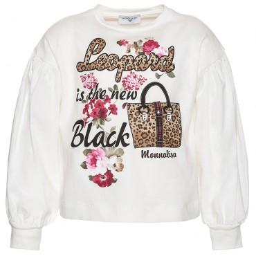 Bluzka dla dziewczynki Leopard Monnalisa 002968 A