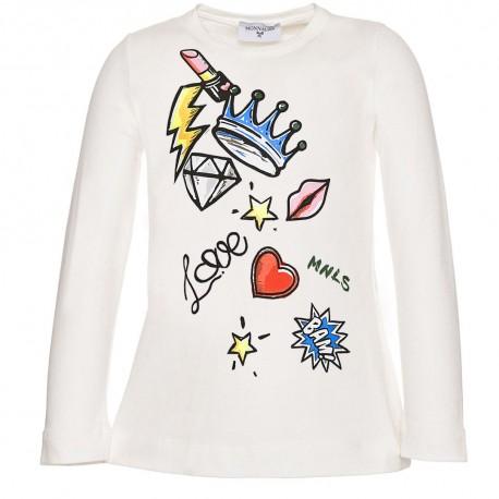 Koszulka dziewczęca z nadrukiem Monnalisa 002971 A