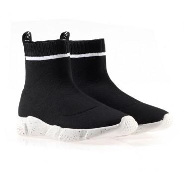 Buty dla dziecka ze skarpetą Twin Set 002972 - modne obuwie dziewczęce - sklep internetowy euroyoung.pl