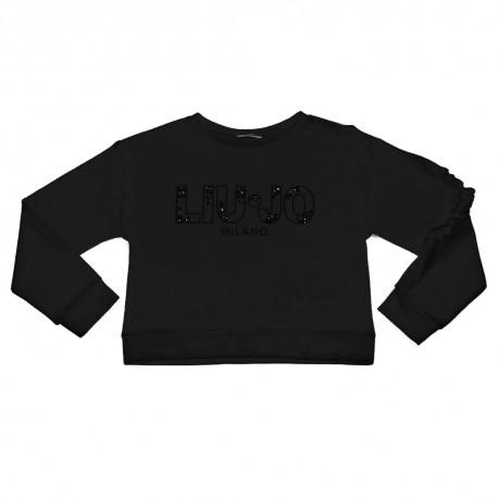 Czarna bluza dla dziewczynki Liu Jo 002973 B
