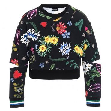 Bluza z pęknięciami na łokciach Monnalisa 002980