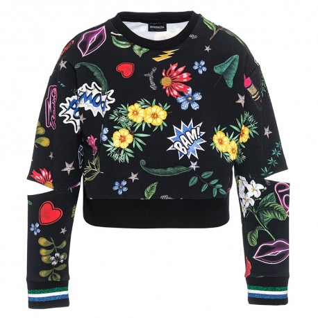 Bluza z pęknięciami na łokciach Monnalisa 002980 A