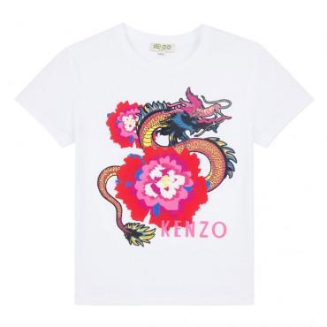 Koszulka dziewczęca Japanese Flowers Kenzo 002996 A