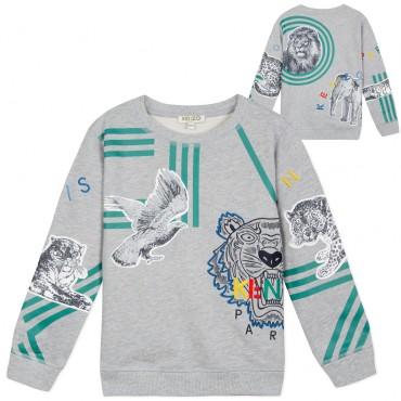 Bluza dla chłopca Crazy Jungle Kenzo 003007