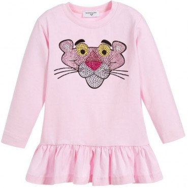 Bluzka dziewczęca z falbaną Monnalisa 003012 A