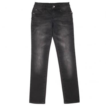 Czarne jeansy dziewczęce push-up Liu Jo 003022 A