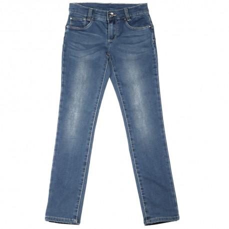 Niebieskie jeansy dziewczęce push-up Liu Jo 003023 A