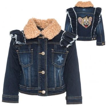 Kurtka jeansowa dla dziewczynki Monnalisa 003034 A