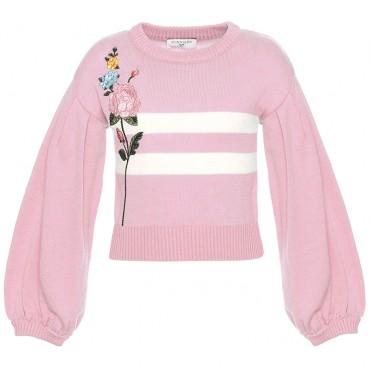 Różowy sweter dla dziewczynki Monnalisa 003037 A