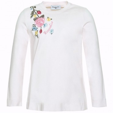 Koszulka dziewczęca w kwiaty Monnalisa 003038 A