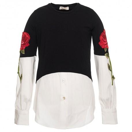 Bluzka dziewczęca z różą Monnalisa 003041 A