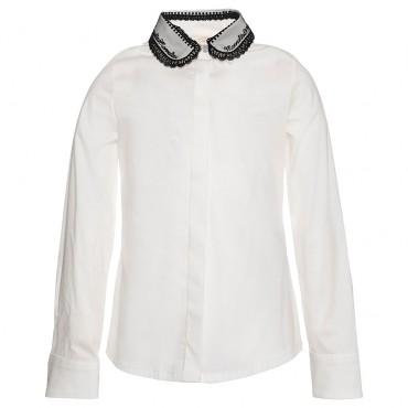 Biała koszula dla dziewczynki Monnalisa 003043