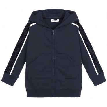 Granatowa bluza dziewczęca Monnalisa 003048 A