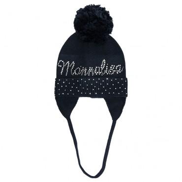 Zimowa czapka dla dziewczynki Monnalisa 003049 A