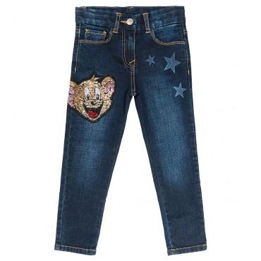 Jeansy dla dzieci Jerry Monnalisa 003051 A