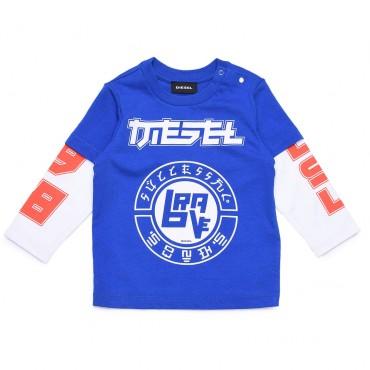 Koszulka dla niemowląt i małych chłopców Diesel 003063 A