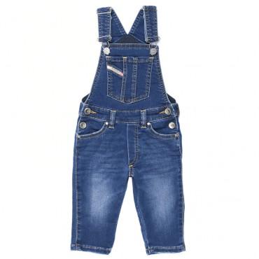 Jeansowe ogrodniczki niemowlęce Diesel 003066 A