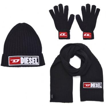 Komplet czapka szalik rękawiczki Diesel 003074 A