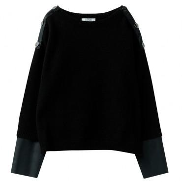 Czarny sweter dziewczęcy Liu Jo 003082 A