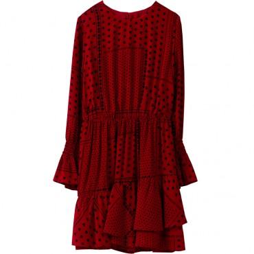 Sukienka bordowa z długim rękawem Liu Jo 003085 A