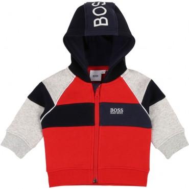 Czerwona bluza niemowlęca Hugo Boss 003109 A