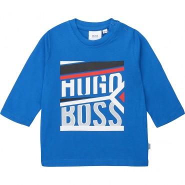Koszulka niemowlęca z nadrukiem Hugo Boss 003114 A