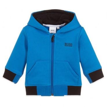 Niebieska bluza dla niemowlaka Hugo Boss 003116 A