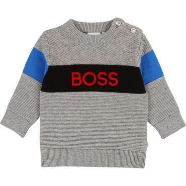 Sweter dla małego chłopca Hugo Boss 003117 A