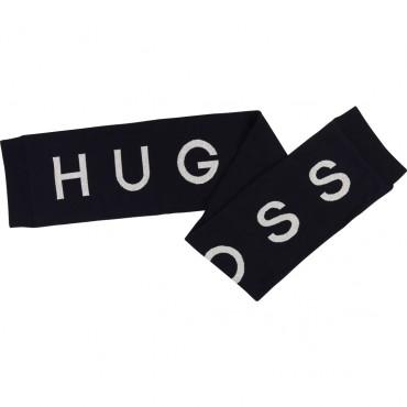 Granatowy szalik dla chłopca Hugo Boss 003125 A
