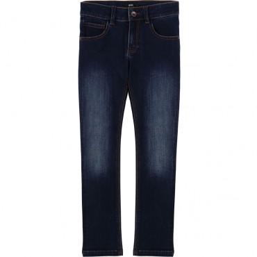 Miękkie jeansy dla chłopca Hugo Boss 003126 A