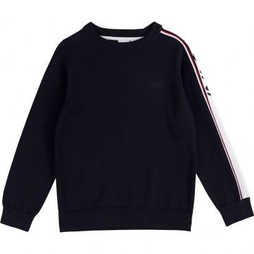 Bawełniany sweter dla chłopca Hugo Boss 003129 A