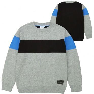 Wielokolorowy sweter chłopięcy Hugo Boss 003130 A