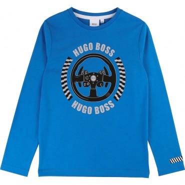 T-shirt chłopięcy z nadrukiem Hugo Boss 003135 A