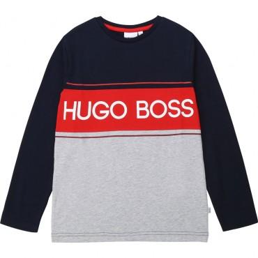 Kolorowa koszulka chłopięca Hugo Boss 003137 A