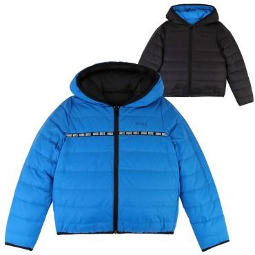 Dwustronna kurtka chłopięca Hugo Boss 003142 A