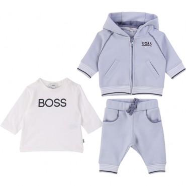 Komplet niemowlęcy w pudełku Hugo Boss 003148 A