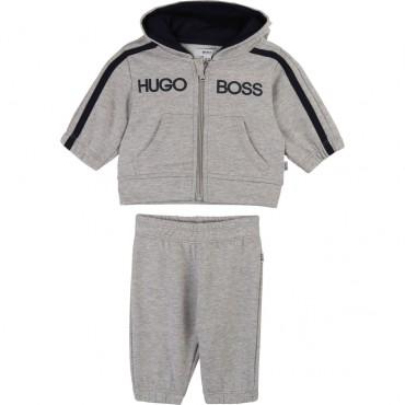 Szary dres niemowlęcy Hugo Boss 003150 A