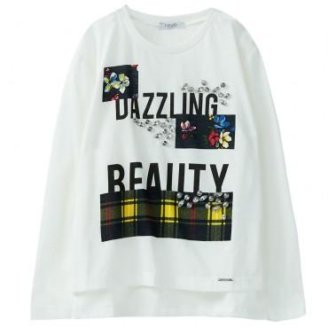 T-shirt dziewczęcy oversize Liu Jo 003151 A