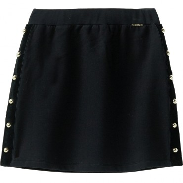 Czarna spódnica mini dla dziewczynki Liu Jo 003154 A