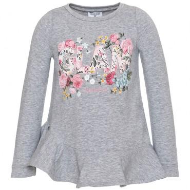 Koszulka dziewczęca z baskinką Monnalisa 003158 A