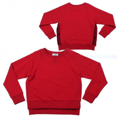 Czerwona bluza dziewczęca Monnalisa 003160 A