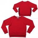 Czerwona bluza dziewczęca Monnalisa 003160